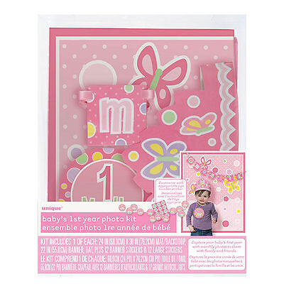 Baby's 1st Year Photo Props Kit Personalize shower gift Age Sticker Girl