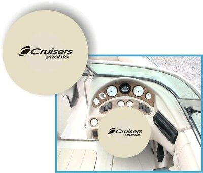 WHITE 100% Microfiber CRUISERS YACHTS Stretchable Boat Steering Wheel Cover