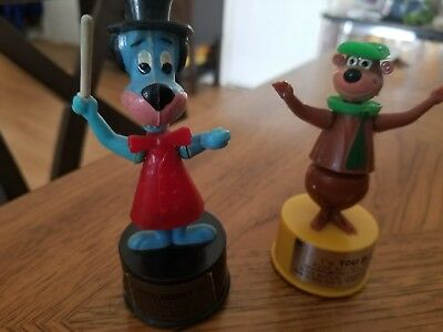 HANNA BARBERA YOGI BEAR  AND HUCLEBERRY HOUND 1960's push puppets KOHNER BROS