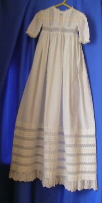 Victorian Christening Gown Full Length Cotton