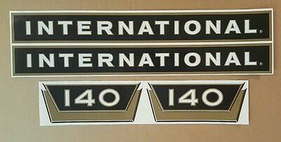 International Farmall 140 Black/gold Decals. Hood/numbers Only.