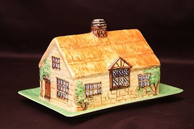 "Beswick house on plate with ""Cheddar Gorge"" 273"