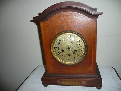 Junghans, Inlaid, Westminster Chimes Bracket Clock, Dated 1906. For Restoration.