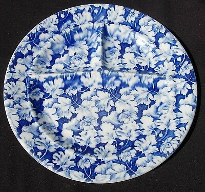 Mayer China ARBOR Grill Plate Blue Chintz 1940s-60s