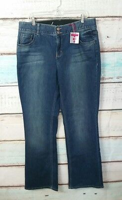 New Lane Bryant Tighter Tummy Technology Bootcut Womens Jeans Sz. 16 Long Nwt
