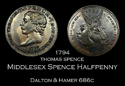 1790 Middlesex Spence Conder Halfpenny D&H 686c