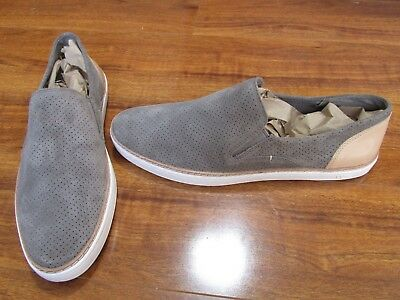 a014817fccb NEW UGG AUSTRALIA Adley Perf Slip-On Shoes WOMENS SZ 10 Gray Mole Suede $120