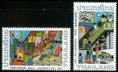 Thailand 1985 Children's Day set of 2 Mint Unhinged