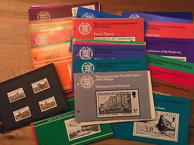 Huge collection of Channel Islands Guernsey Post Office Mint stamps in info pack