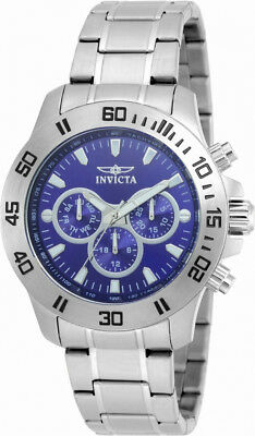 Invicta Specialty 21482 Men's Round Dark Blue Analog Day Date 12 & 24 Hr Watch
