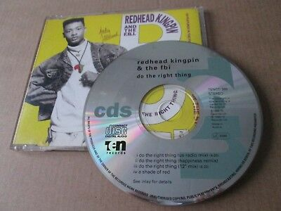 Redhead Kingpin And The FBI – Do The Right Thing [UK CD SINGLE] NEAR MINT