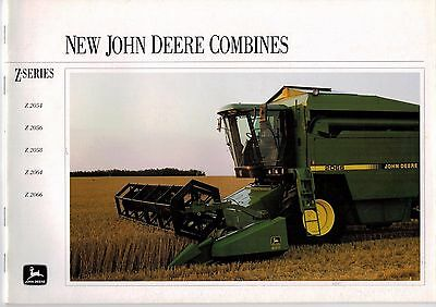 John Deere New Combines Z Series 2054 2056 2058 2064 2066 Brochure 1993 3247F