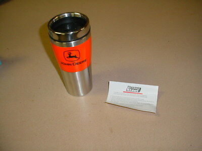 JOHN DEERE Thermo Stainless Steel  Travel Cup Mug GLASS WITH LID