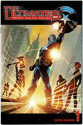 """The Ultimates (2002) #1 """"Super-Human"""" Millar Hitch Currie Mounts VF     FREEPOST"""