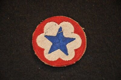 WW2 US Army Service Forces Shoulder Patch SSI Cut Edge #1