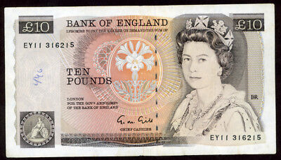 Great Britain N.d.(1988-91) 10 Pounds   Note !!!!!  Vf-Xf