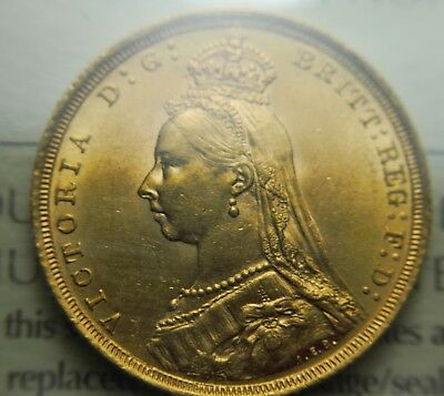 ICCS    1888-S  MS-62  Australian Gold Sovereign.