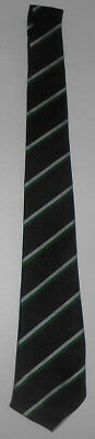 Boys Wolgarston Senior School Tie From 1992 In Black, Green & Silver [New]