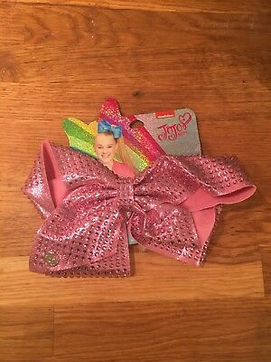 JoJo Siwa large pink sparkly diamonte hair bow. New with tags.