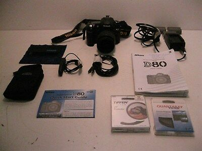 Nikon Digital D80 Camera, Nikko 1:3.3-5.60 Lens, Shutter MD-DC1, Filter Bundle
