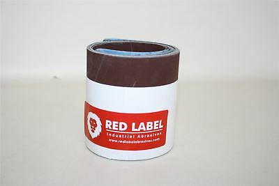 "Set Of 6 x NEW RED LABEL 4"" x 36"" 600 Grit Premium Metal Working Sanding Belts"