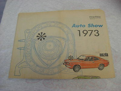 Lot of 12 different Vintage Chicago Auto Show 1970's Newspaper Supplements