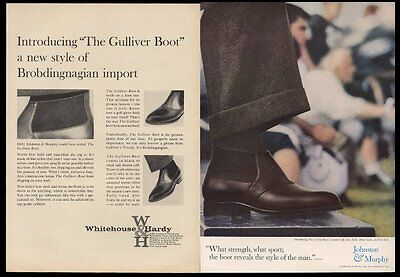 1960 Johnston & Murphy shoes men's Gulliver boot photo vintage print ad