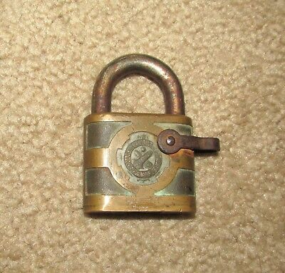 Antique Yale U.s. Military Ordinance Department Pad Lock