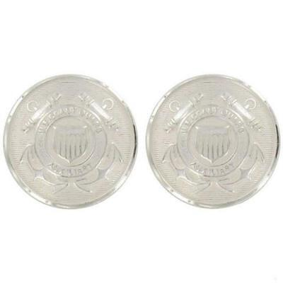 USCG Coast Guard Auxiliary Buttons Cap Buttons Screw Back  (Made in USA)