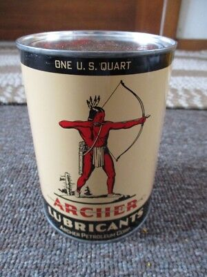 RARE Old ARCHER AIRCRAFT OIL Quart CAN...NOS & FULL!!...Omaha