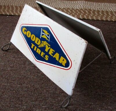 RARE 1950s-60s GOODYEAR TIRES DISPLAY RACK SIGNS....L@@K!