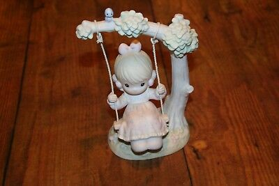 Precious Moments-My Warmest Thoughts Are You-Girl Swinging In Tree 1991 #524085