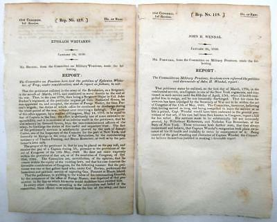 1830 - 1832 GOVERNMENT REPORTS (30) Diff – Post Office, Navy, Treasury, etc.