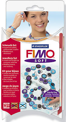 FIMO Sculpey Soft Clay Knotted Dots Jewellery Set Craft Art Fun 8023-87