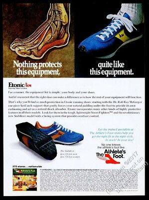 1979 Etonic Km running shoe photo The Athlete's Foot vintage print ad