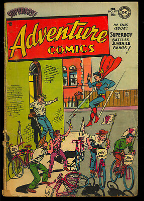 Adventure Comics #197 Nice Pre-Code Golden Age Superboy DC Comic 1954 GD-VG