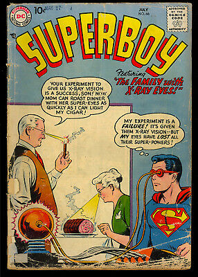 Superboy #66, 67, 72 Silver Age Superman DC GROUP (3 Comics) 1958 GD- to GD+