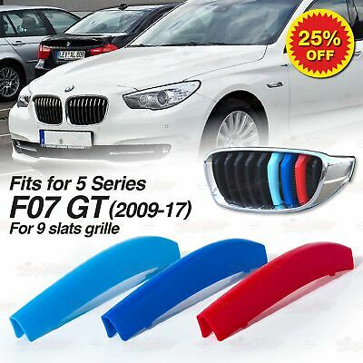For BMW 5 Series GT F07 2009-17 Kidney Grille M Sport 3 Colour Cover Stripe Clip