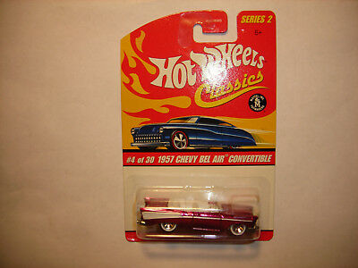 Hot Wheels Classics Series 2 1957 Chevy Bel Air Convertible Pink