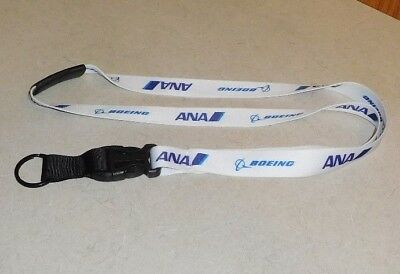 Ana All Nippon Airlines 全日空 Boeing Lanyard Keychain