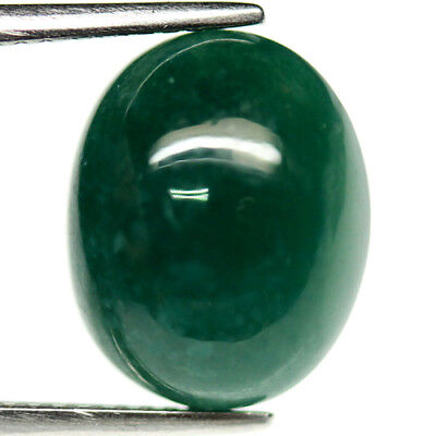 5.78 Ct Natural Green Madagascar Chalcedony Oval Cabochon