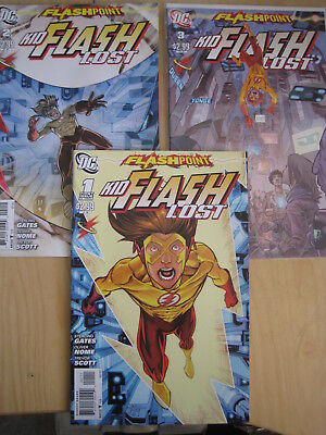 "FLASHPOINT : ""KID FLASH LOST"", COMPLETE 3 ISSUE SERIES issues 1,2,3. DC.2011"