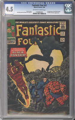 Fantastic Four # 52  First appearance of Black Panther !  CGC 4.5  scarce book !