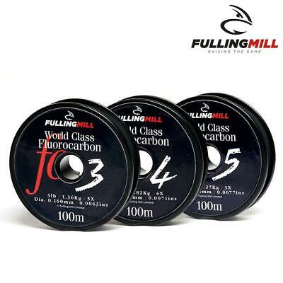 Fulling Mill World Class Fluorocarbon Tippet - Leader  - Fishing Line 100M Spool