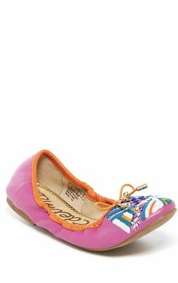 7ecdcd270c57a1 Sam Edelman Girl s Felicia Embroidered Ballet Flats Shoes Size 4 Pink New