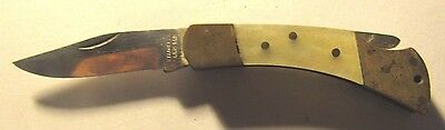 Vintage Small Mother of Pearl Pocket Knife Folding SS Pakistan