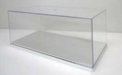 TRIPLE 9 T9-2499075 - 1/24 DISPLAY CASE SILVER BASE 28Lx13Wx11H CM **CRACKED**