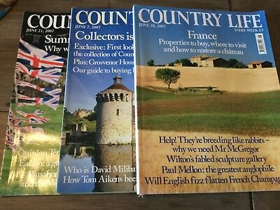Country Life Magazines June 2007 x3