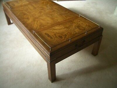 MAPLE Military Style Coffee Table with Brass Fittings - Harrods 1980