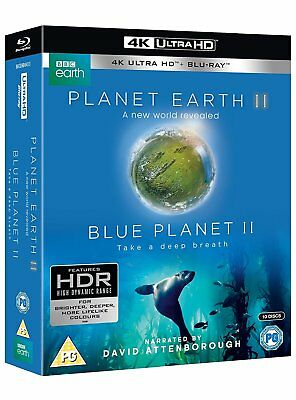 Planet Earth II & Blue Planet II Boxset 4K Blu-ray UHD *NEU* Erde Attenborough